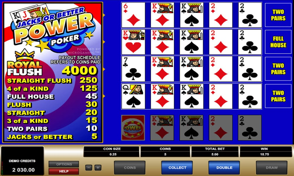 Video poker - Slots e poker em uma mistura maravilhosa